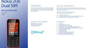 Nokia 208 Service Schematics