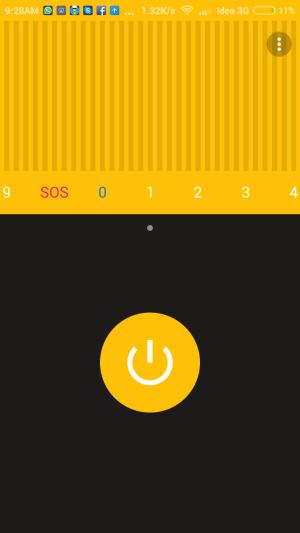 Apalon Flashlight App different Flashing Freqencies
