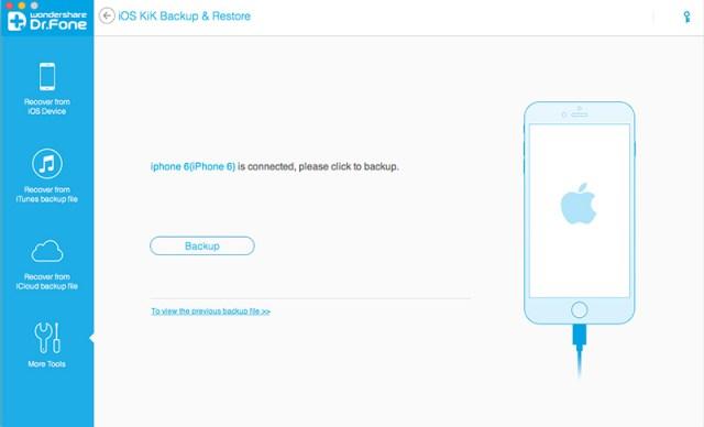 Wondershare Dr.fone Full Suite for iOS Kik