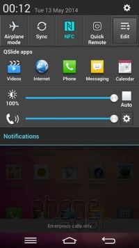 LG G Pro 2 Quick Settings 1