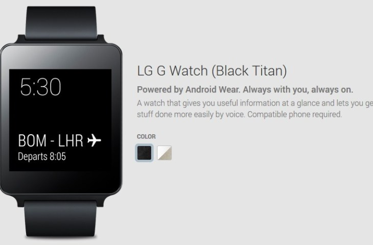 LG G Watch Play Store