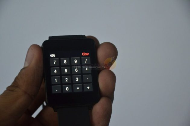 LG G Watch Calculator