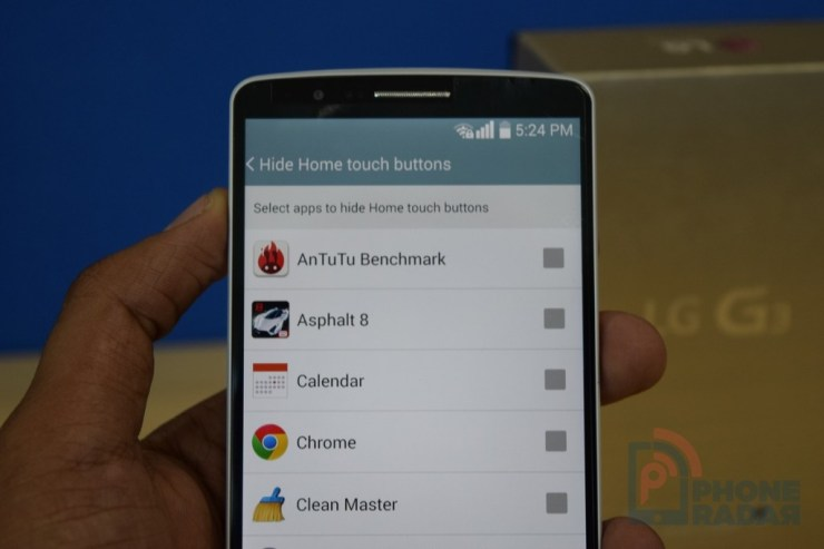 LG G3 Tip Hide Home Touch Buttons