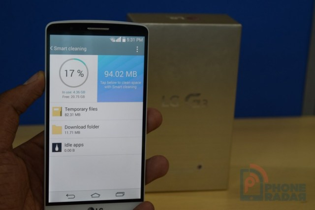 LG G3 Tip Smart Cleaning