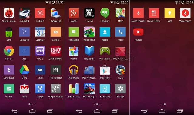 OnePlus One Interface Apps