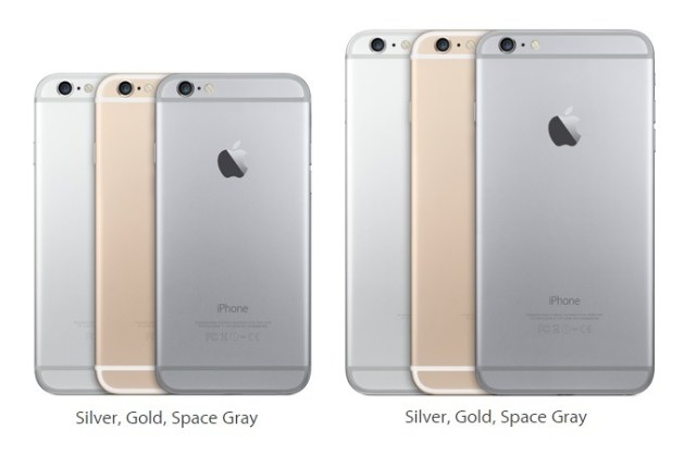 Apple iPhone 6 vs 6 Plus Size