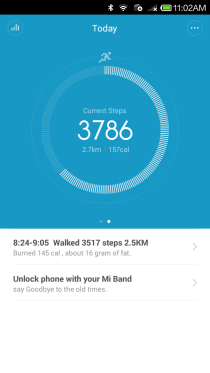 Mi Band App - Steps Taken