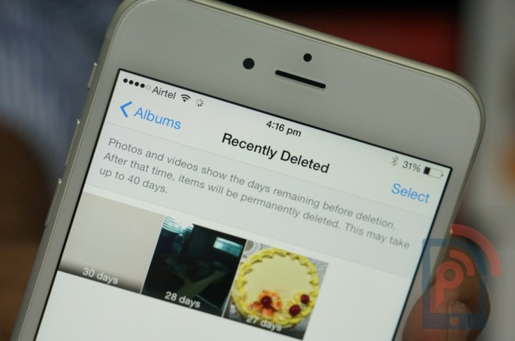 Apple iPhone 6 Tip Deleted Photos