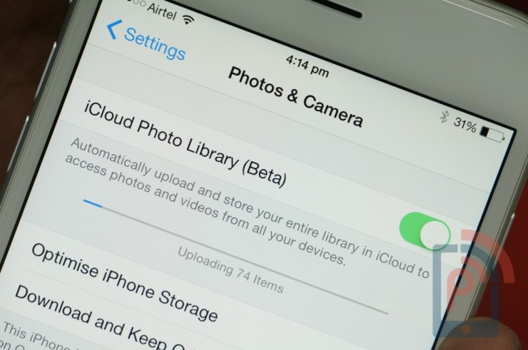 Apple iPhone 6 Tip iCloud Photo Library
