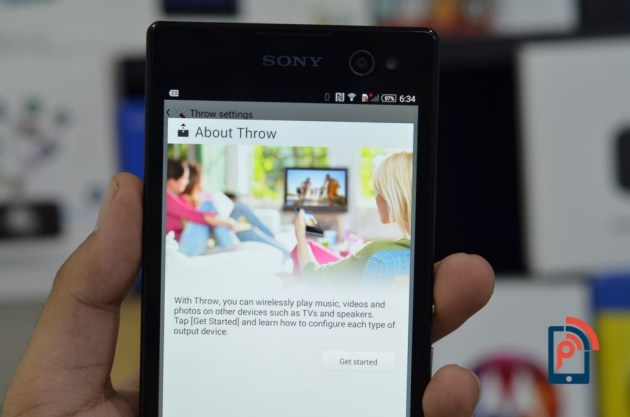 Sony Xperia C3 - Throw Feature