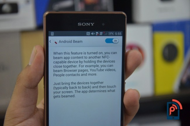 Sony Xperia Z3 - Android Beam