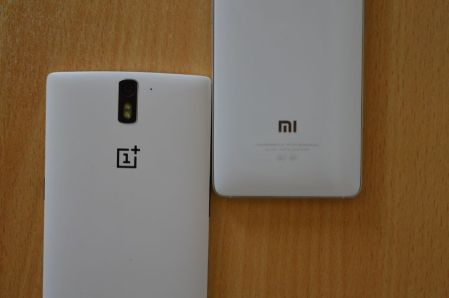 Xiaomi Mi4 vs OnePlus One Back