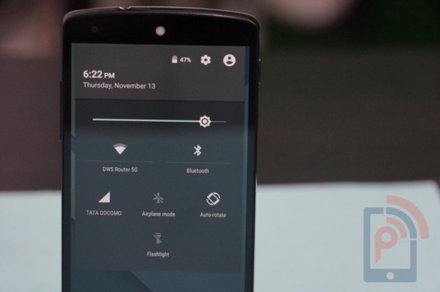 Android Lollipop Feature Notification Panel