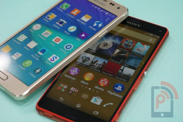 Samsung Galaxy Alpha and Xperia Z3 Compact