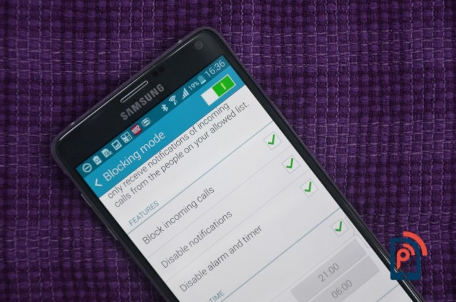 Samsung Galaxy Note 4 - Blocking Mode