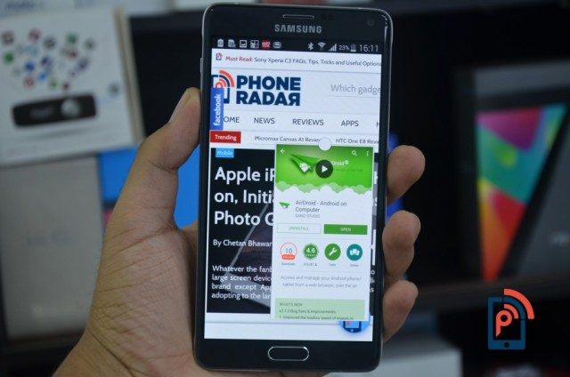 Samsung Galaxy Note 4 - One-handed operation
