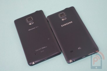 Galaxy Note 4 vs Note Edge Back
