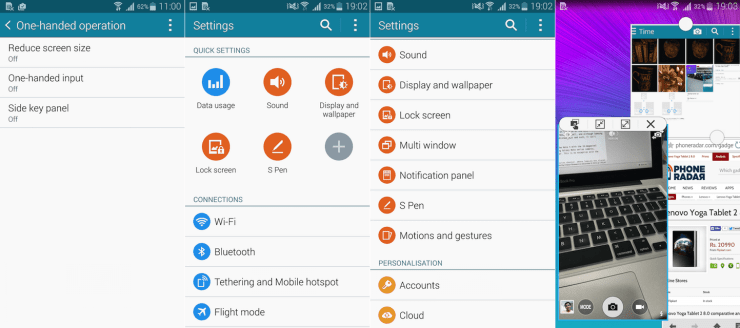 Samsung Galaxy Note 4 Interface Features