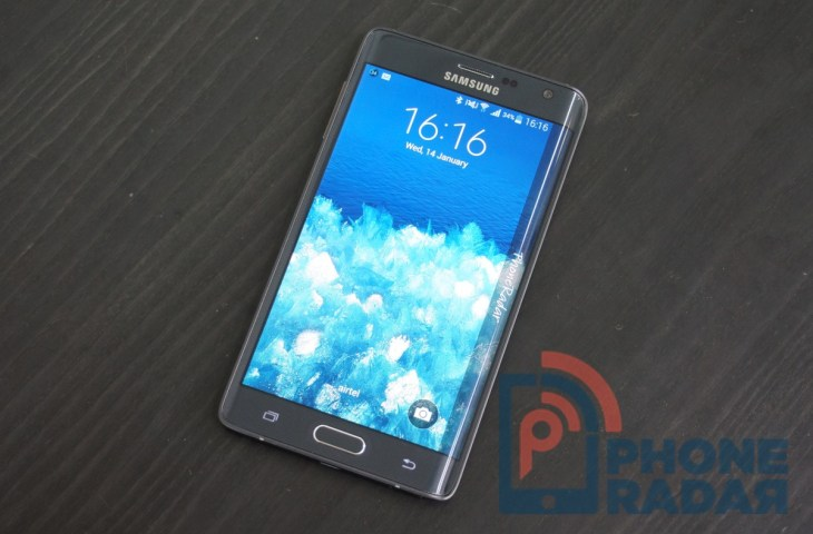 Samsung Galaxy Note Edge Display