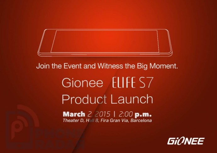 Gionee Elife S7 Event