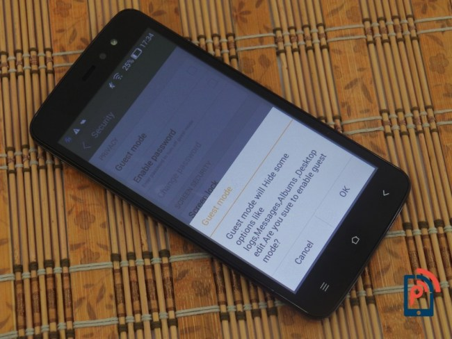 Gionee Pioneer P6 - Guest Mode
