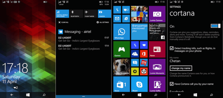 Microsoft Lumia 640 XL Interface