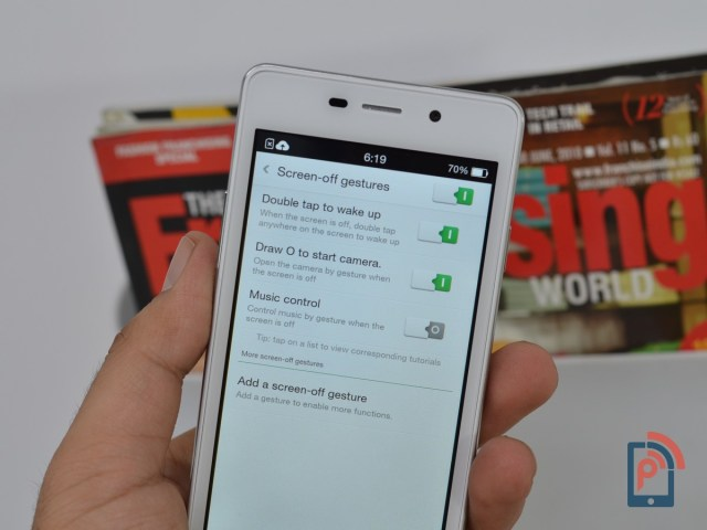 Oppo Joy 3 - Screen Off Gestures