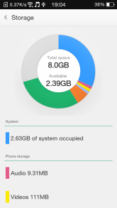 Oppo Neo 5 - Internal Storage