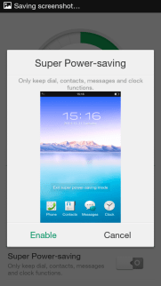 Oppo Neo 5 - Super Power Saving Mode