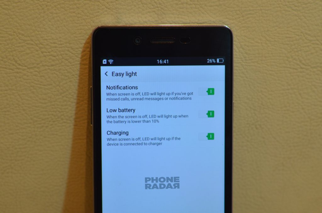 Oppo Mirror 5 Easy light
