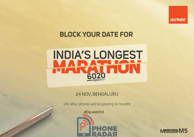 Gionee Marathon M5 India Launch
