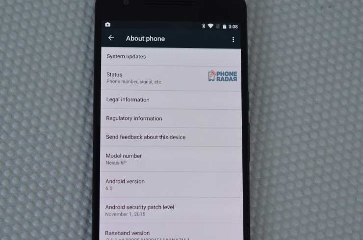 Huawei Nexus 6P About Phone