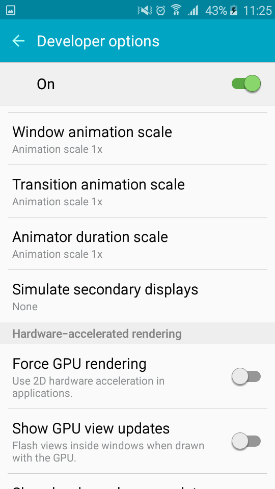 Samsung Galaxy J2 - Change the Animation Scales