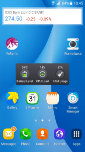 Samsung Galaxy On5 - Widgets