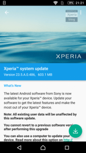 Xperia Marshmallow Beta software update