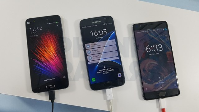 OnePlus 3 Vs Samsung Galaxy S7 Vs Xiaomi Mi 5 - Which Charges Faster 1