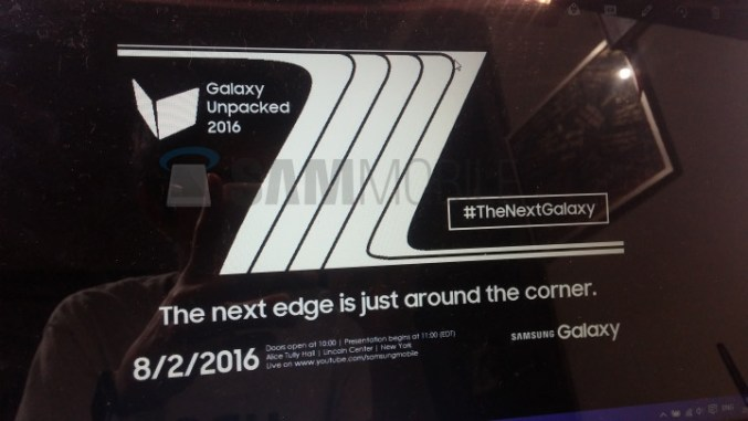 Samsung Galaxy Note 7 Edge Announcement