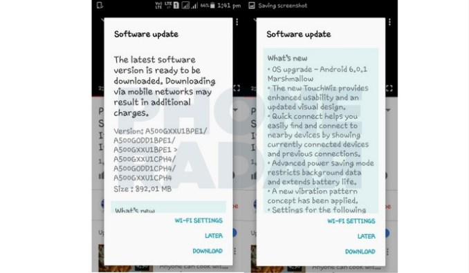 Samsung Galaxy A5 Marshmallow Update