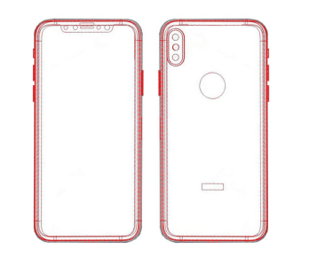 CAD images of the Apple iPhone 8