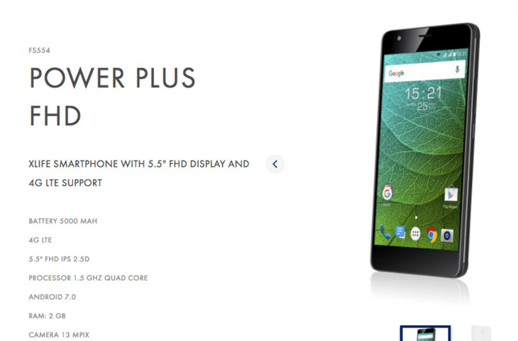 Fly Power Plus FHD Smartphone Announced with 5000mAh Battery