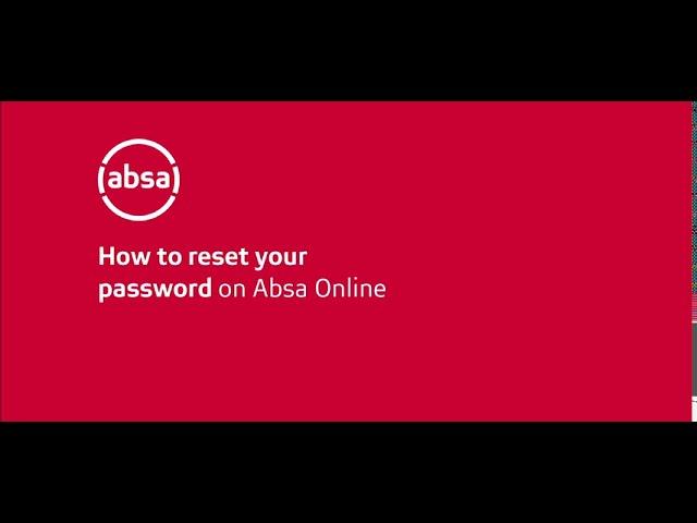 Reset ABSA Online Banking Password