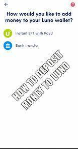 deposit money Grindrod Bank Deposits To Luno
