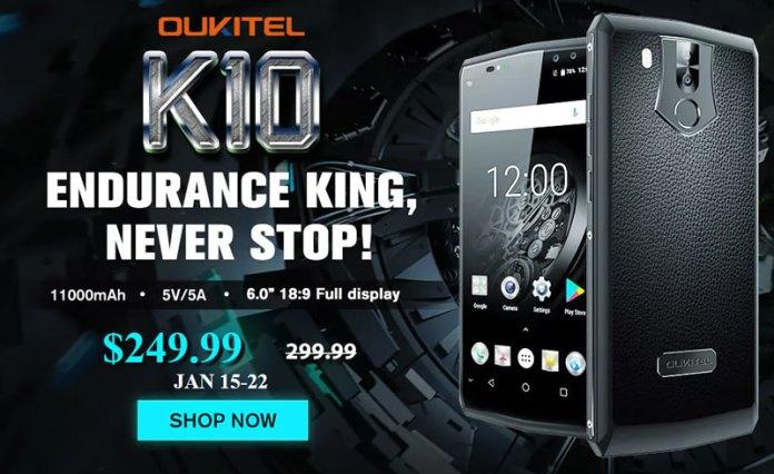 Oukitel K10 pomo price