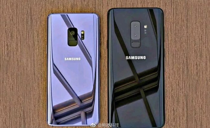Leak rear view of the Samsung Galaxy S9 and Samsung Galaxy S9+