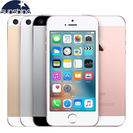"Original Unlocked Apple iPhone SE 4G LTE Mobile Phone iOS Touch ID Chip A9 Dual Core 2G RAM 16/64GB ROM 4.0""12.0MP Smartphone"