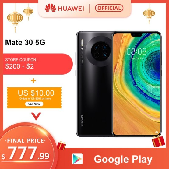 Original Huawei Mate 30 5G Version 8GB 128GB 256GB Kirin 990 Smartphone 40MP Triple Cameras 24MP Front Camera 6.62'' Inch
