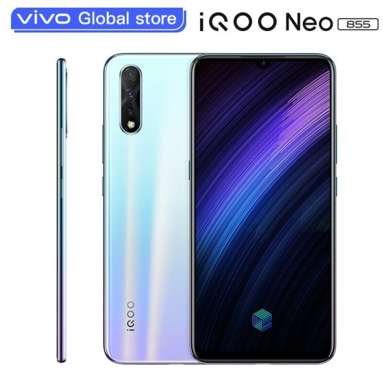 original vivo iQOO Neo 855 Smartphone 6GB 128GB Snapdragon 855 Octa Core 4500mAh 33W Dash Charging Celular Android Cell Phone
