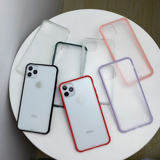 Luxury Matte Transparent Phone Case For iPhone 11 Pro Max XR X XS Max 8 7 6 6S Plus Shockproof Hard Acrylic Clear Back Cover
