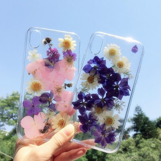 Dry Pressed Real Flower Phone Cases For iPhone 11 X XR XS Max 6 6S 7 8 Plus Dry Pressed Real Flower Phone Cases For iPhone 11 X XR XS Max 6 6S 7 8 Plus 11 Pro Max Glitter Floral Transparent Silicone Cover.