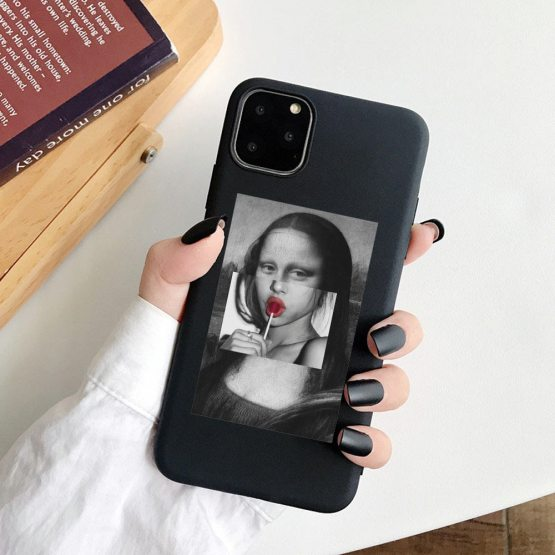 For iphone 11 Case Mona Lisa Art David Soft Silicone Phone Case cover For iphone 11 Case Mona Lisa Art David Soft Silicone Phone Case cover For Apple iPhone 5S SE 6 6s 7 8 Plus XR XS 11Pro Max Case.